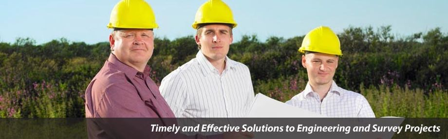 "three men on site - ""Timely & Effective Solutions to Engineering and Survey Projects"""